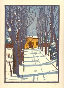 8. Ulaz u Pazinsko groblje, drvorez, 1911.