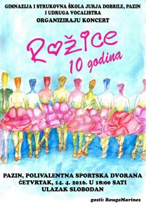 Plakat ua koncert Rožica