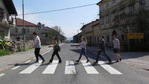 Ekipa Zavičajne nastave u selu Razdrto